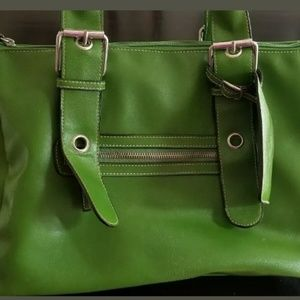 Green leather Handbag -Aldo